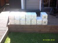 JOBLOT OF 13 BOXES JOHNSON PRISMATICS SHADES OF GREY WALL TILES