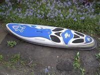 Starboard Kombat 95 litre Windsurf Board, 2 Fins, Footstraps and Bag