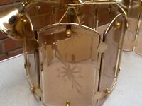 smoked glass panel lampshades excellent condition (can deliver locally)