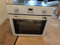 SIA so102wh 60cm built in electric single fan oven in white