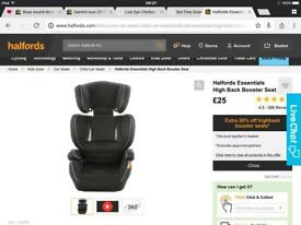 Halfords car seat