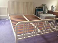 White Habitat bed frame - classic design