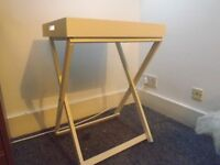 Perfect Conditions White Wooden Folding Table