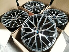 "* NEW 20"" INCH ALLOY WHEELS ALLOYS GREY G30 BMW 5 SERIES 6 7 G12 G11 M PERFORMANCE"