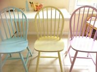 3 pastel chairs for sale