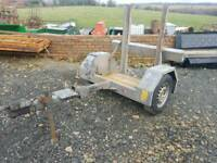 Pedestrian roller transport trailer has recent new hitch