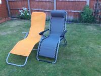 Pair of pre owned sun loungers