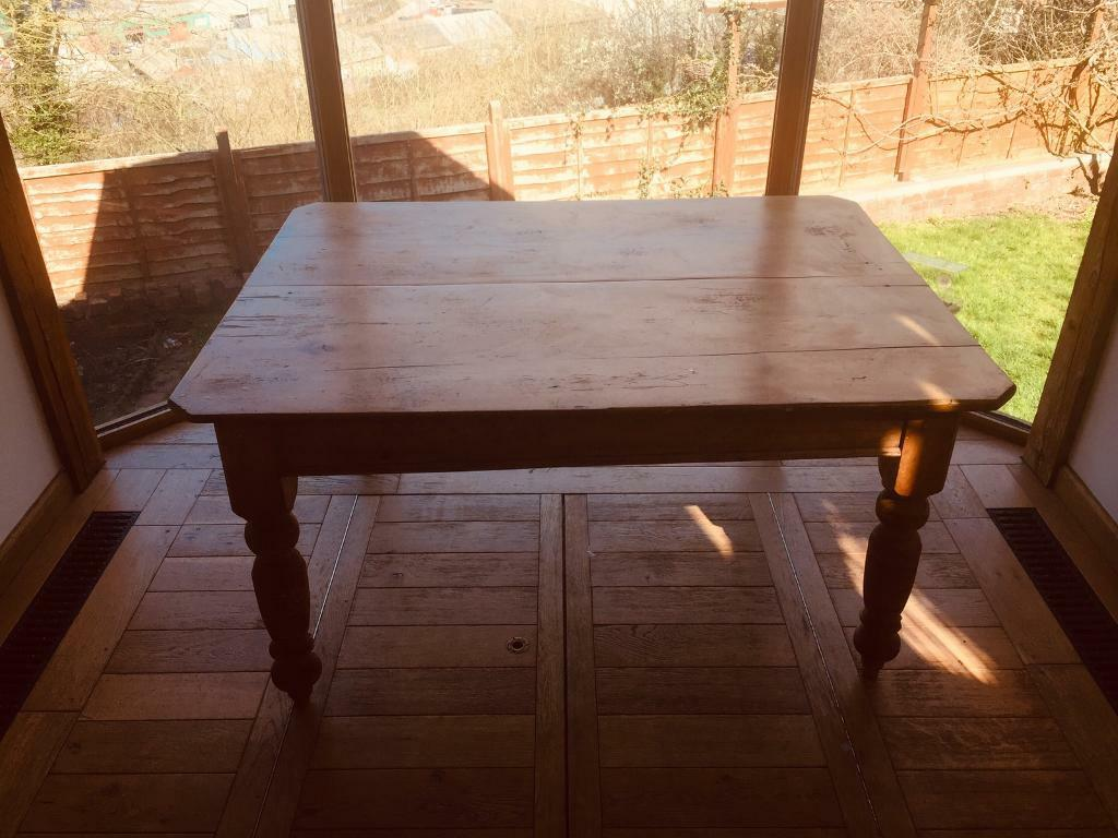 Solid Antique Farmhouse Dining Table In Temple Meads Bristol