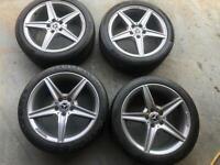 Mercedes c class amg alloy wheels 18 inch