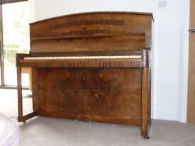 DANEMANN ART DECO STYLE UPRIGHT PIANO