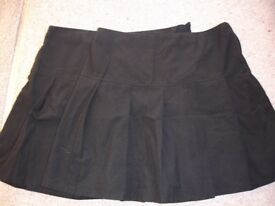 M & S black school skirts size 15-16 years