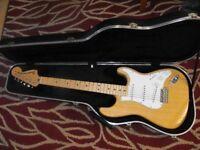 Fender Stratocaster 70s reissue 2003 SOLID ASH £450 including fender case. possible swap whyg ?