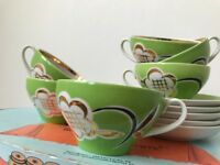 Russian Soviet era tea cups – hand made – pickup in FULHAM