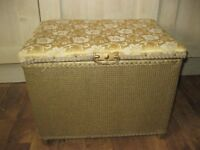 vintage gold painted footstool with storage