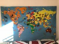 Kids wall hung map