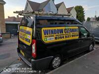 Van window cleaning