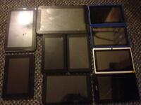 10 diferent size tablets acer blackberry alba and other.