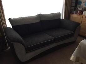 Two and a half seater sofa and arm chair