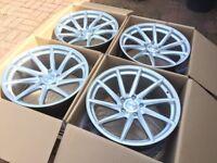 """4 x NEW 19"""" BMW VOSSEN STAGGERED ALLOY WHEELS 5x120 SERIES WIDE REAR E36 E46 E60 E61 E90 E92 E93 1 3"""