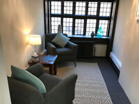 Therapy rooms for psychologists and psychotherapists, Central London
