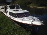 26ft River Cruiser London house boat, wide beam