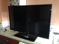 "42"" LED 3D TV FULL HD WITH GLASSES - LINES ON SCREEN, SEE DESCRIPTION"