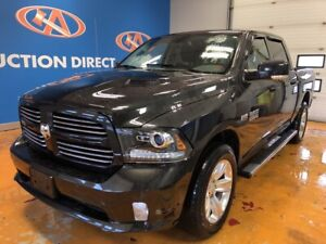 2017 RAM 1500 Sport CREW! 4X4/ HEATED LEATHER-CLOTH/ BACK-UP CAM