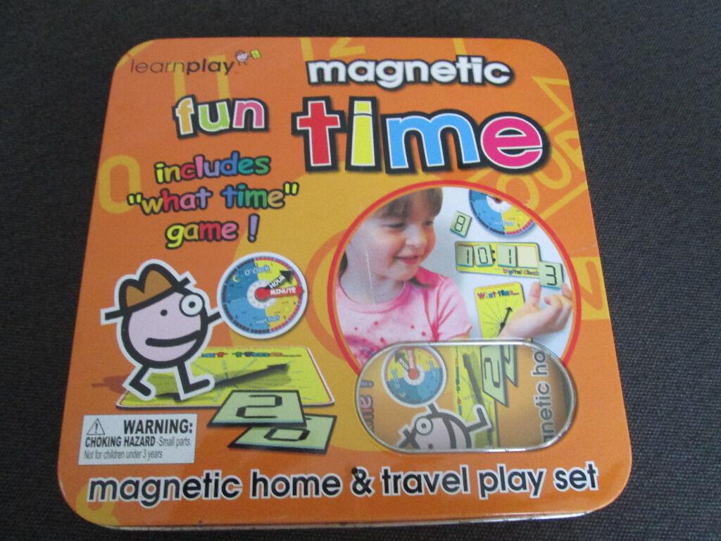 """LEARN THE TIME A FUN WAY - """"MAGNETIC FUN TIME"""" - VGC"""