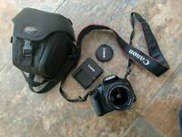 Canon EOS 500D with lens and case