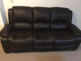Brand new 3 seater leather sofa £50 settee