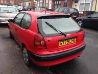 Toyota Corolla. 1.3i 3dr hatch. Low miles.