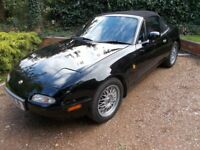 Low mileage (57k) Mk1 Mazda MX5 mx 5 mx-5. British car. 1800. Black/black. Lovely inside and out....
