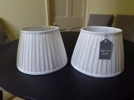 2 x Brand new cream/white lampshades - Multiyork