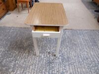 kitchen / craft table with melamine wipe clean top with 1 deep narrow drawer. can deliver
