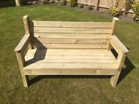Garden benches handmade
