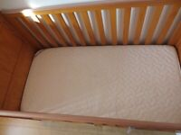 Baby Cot Bed & Mattress