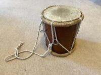 Indian Traditional Wooden Single Tabla Drum, India original made