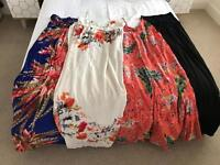 4 x size 14-16 summer maxi dresses (from left):