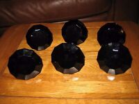 Laura Ashley Black Glass Drawer Knobs