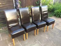 Four chairs £20