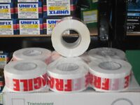 fragile tape packaging 48mmx150mtr long 6 rolls 900mtrs