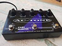 Carl Martin effects pedal Carl Martin AC Tone twin channel overdrive