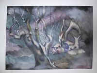 Atmospheric Painting of Tree Forms