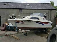 18ft cabin cruiser and 90hp mariner