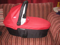 "CARRY COT FOR SALE BRAND NAME ""JOIE"" CROME"