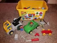 Duplo complete box and breakdown truck set