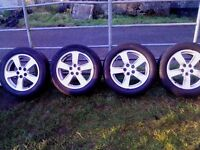 4 avensis alloys 03-06 excellent with good tyres, 5x 100