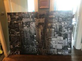 6ft by 4ft New York Skyline print