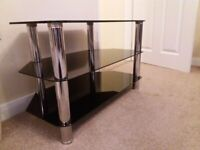 Black & Chrome 3tier TV stand