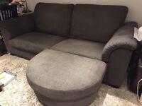 Ikea Tidafors 3 seat sofa and footstool